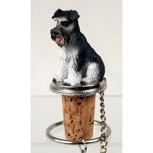 Schnauzer-Gray-Uncropped-Tiny-One-Bottle-Stopper-DTB103B-B000O2PJLE